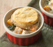 Harvest Chicken Pot Pie with Pumpkin-Sage Biscuits