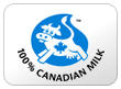100% Canadian Milk