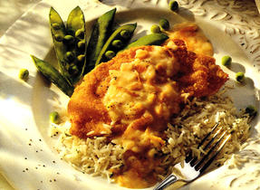 Almond Coated Chicken with Orange Sauce