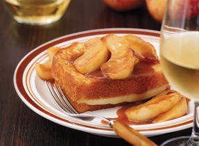 Apple & caramel dessert sandwich