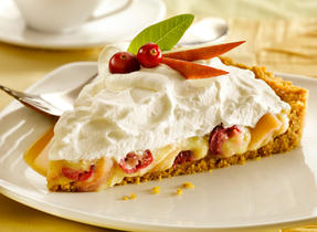 Apple Cranberry Custard Vanilla Cream Tart