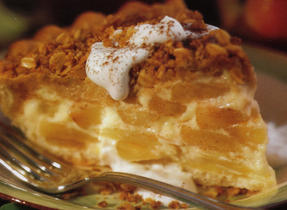 Apple Custard Crumble Pie