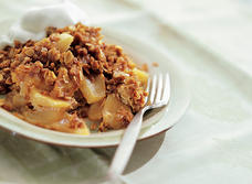 Apple Custard Crumble
