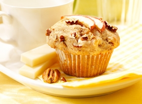 Apple Pecan Muffins with Brick