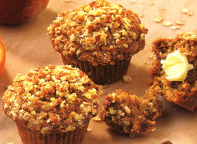 Apple Streusel Oatmeal Muffins