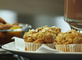 Apricot Almond Mini Muffins
