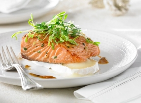 Asian Baked Salmon with Le Noble Cheese