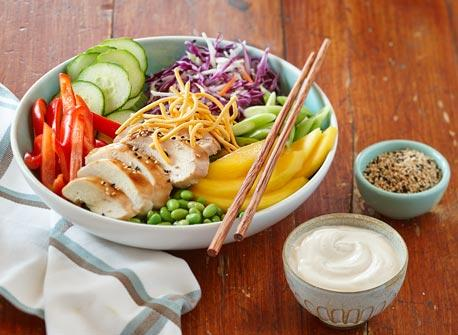 Asian Sesame Chicken Chopped Salad Recipe