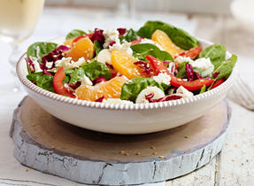 Asian Spinach and Feta Salad