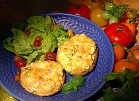 Au Gratin Eggs on Bagels Recipe