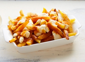 Autumn vegetable poutine