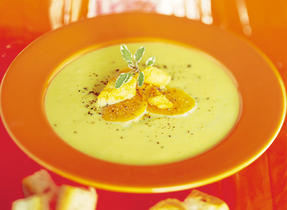 Autumnal Cream of Sweet Potato Soup