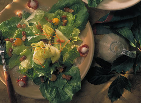 Auvergne Style Salad with Bacon Bits Recipe