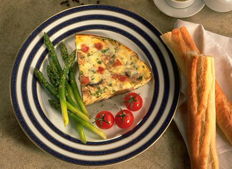 Bacon and Mushroom Frittata with Canadian Swiss cheese Recipe