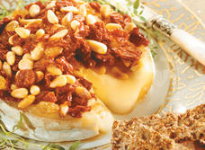 Baked Camembert with Pine Nuts & Sun Dried Tomatoes
