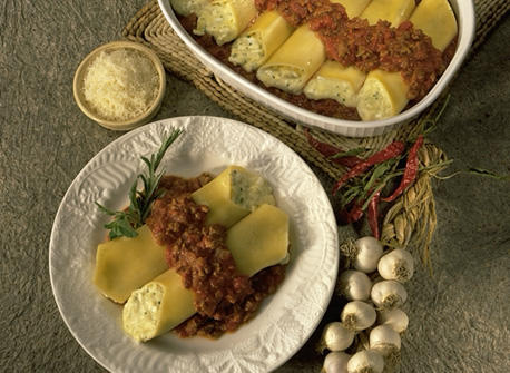how to make manicotti with ground beef