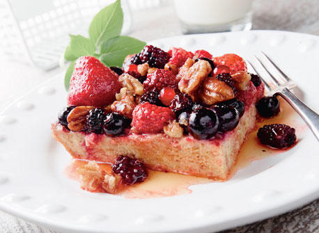 Baked Nutty Berry French Toast Recipe
