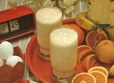 Banana Breakfast Booster, Strawberry Starter, Pineapple-Grapefruit Lift & Wake-Up Shake-Up Recipe