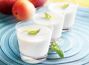 Basil Lemon Panna Cotta