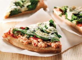 BBQ Spinach Ricotta Pizza