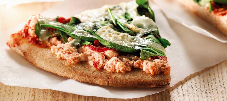 BBQ Spinach Ricotta Pizza recipe   Dairy Goodness