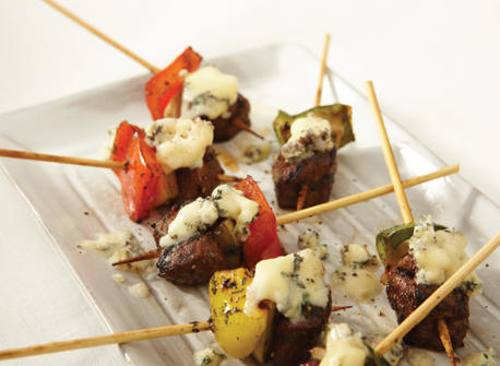 Beef and Blue brochettes Recipe