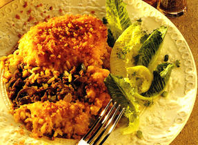 Beef and Rice Casserole with Crisp Topping