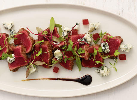 Beef Tataki with Blue Cheese Recipe