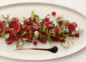 Beef Tataki with Blue Cheese