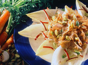Belgian Smoked Turkey Salad with Pistachio and Apples