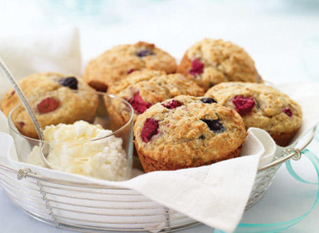 Berry Ricotta Muffins Recipe