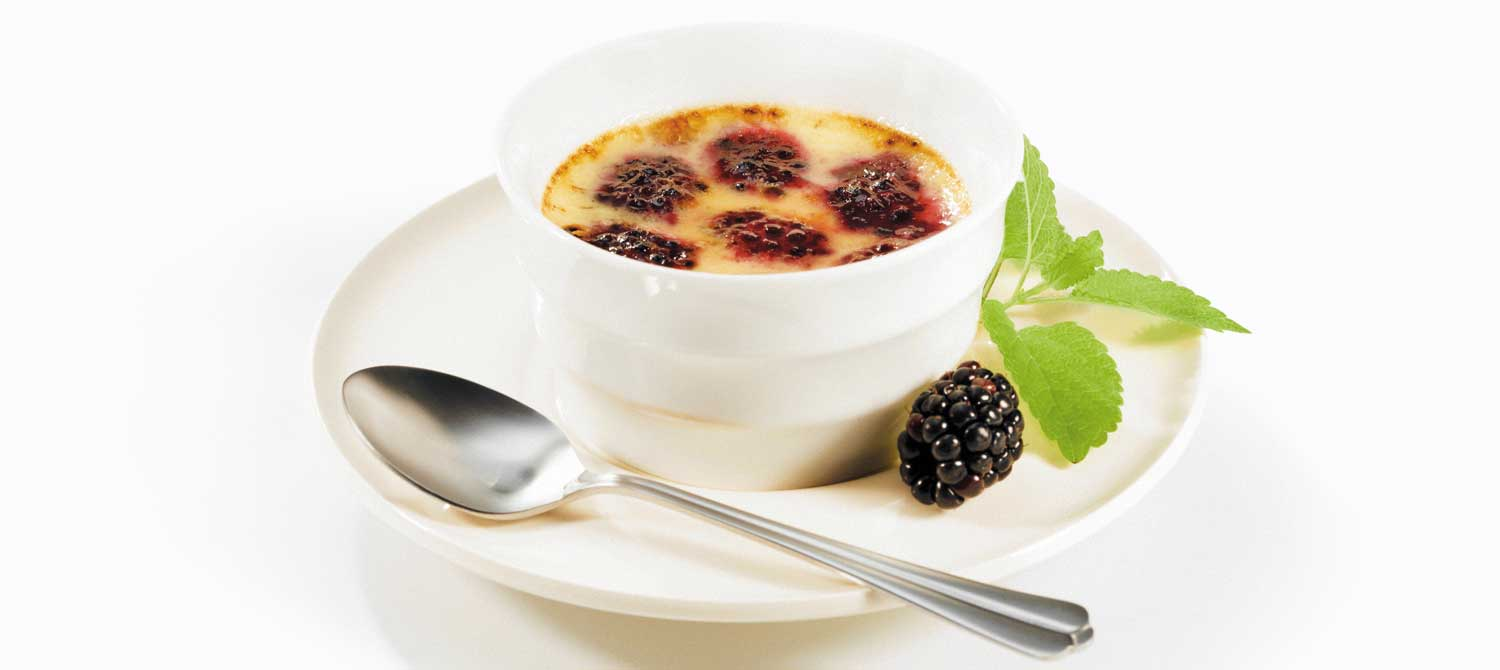 Ginger Brulee With Buried Blackberries Recipes — Dishmaps