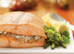 Blue and Pear Salmon