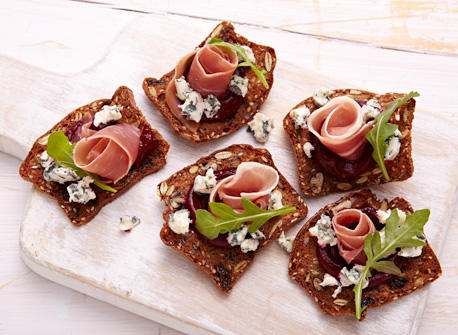 Blue cheese canap s recipe dairy goodness for Canape hors d oeuvres difference