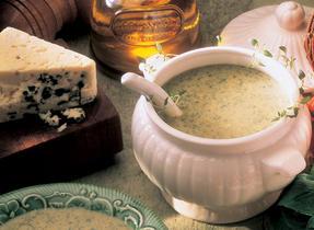 Blue Cheese Cream of Leek