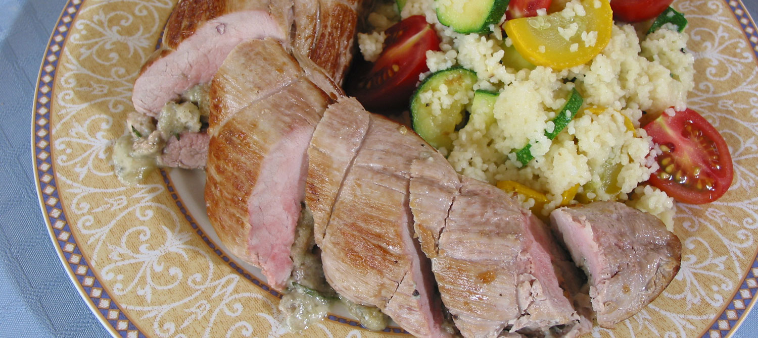 Pork tenderloin and blue cheese recipes