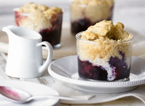 Blueberry Ginger Cobbler
