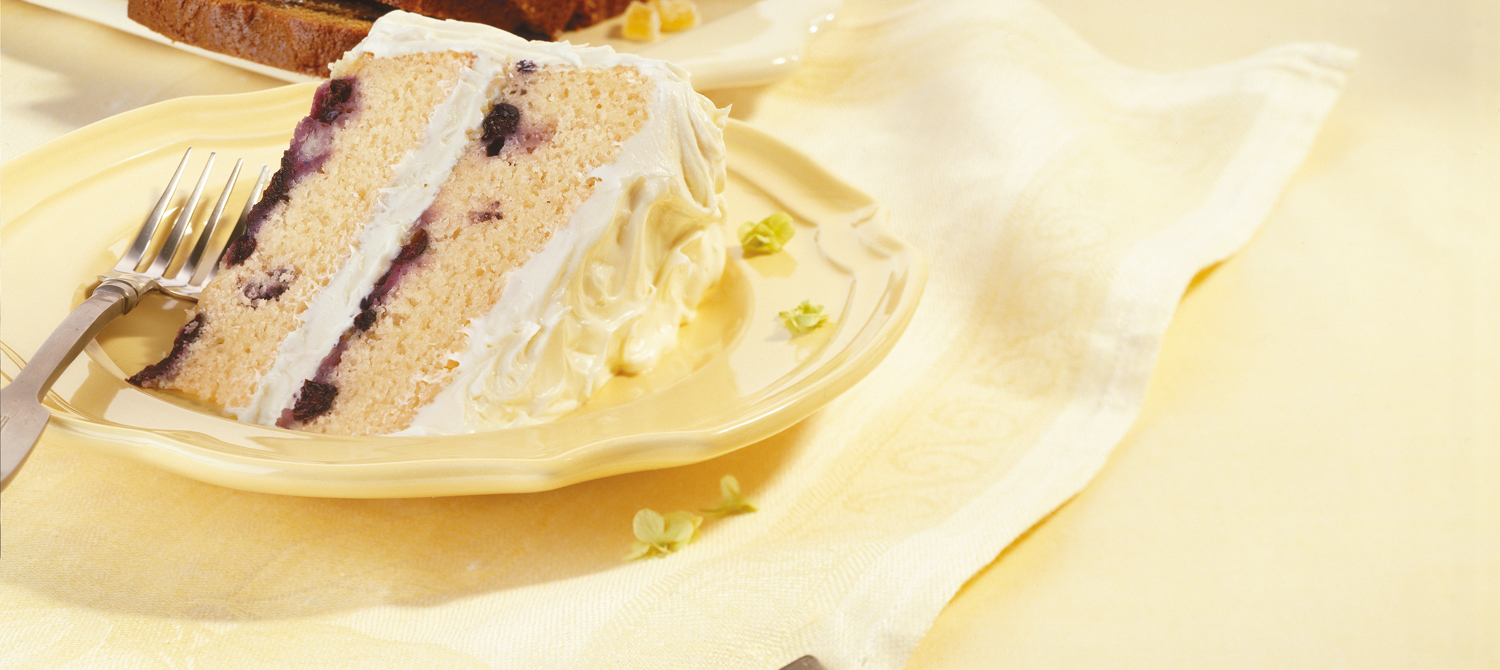 Blueberry Layer Cake with Lemon Frosting recipe | Dairy Goodness