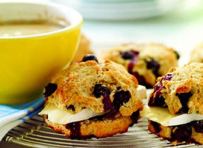 Blueberry, Lemon and Brie Scones