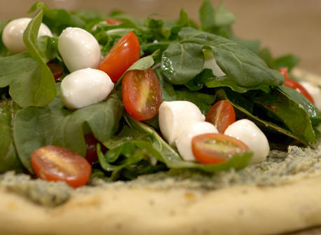 Bocconcini Salad Pizza Recipe