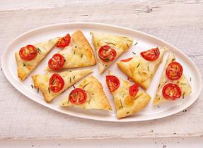 Bocconcini & tomato focaccia