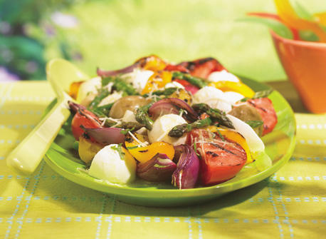 Bocconcini-Veggie Salad Recipe
