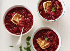 Borscht with Queso Fresco