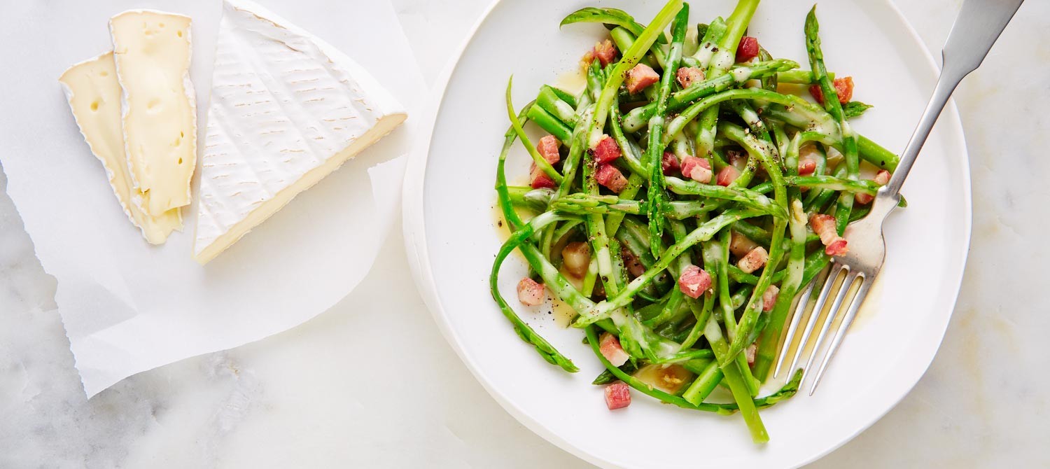 Brie & asparagus carbonara recipe | Dairy Goodness