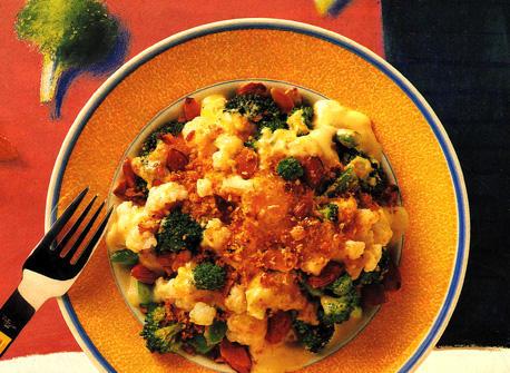 Broccoli and Cauliflower with Almonds Recipe