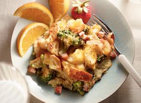 Broccoli, Ham 'n' Cheddar Strata