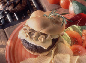 Burgers with Brie and Mushrooms