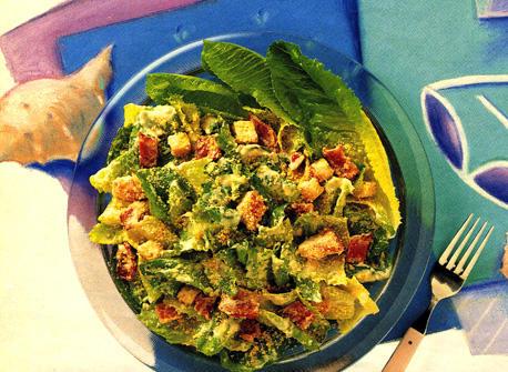 Caesar Salad with Creamy Garlic Dressing Recipe