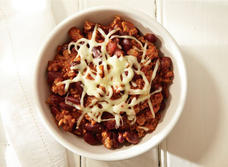Campfire chili with Monterey Jack recipe