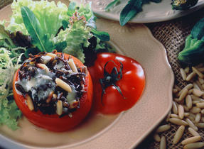 Canadian Blue Ermite Cheese Stuffed Grilled Tomatoes
